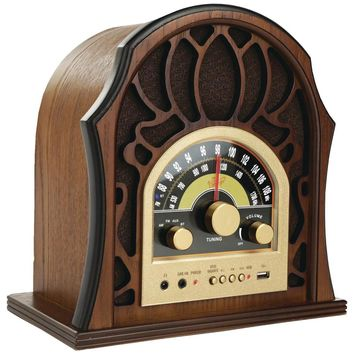 Pyle Home Vintage-style Radio System With Bluetooth