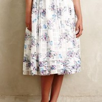 Blooming Trellis Midi Skirt by Erin Fetherston Neutral Motif