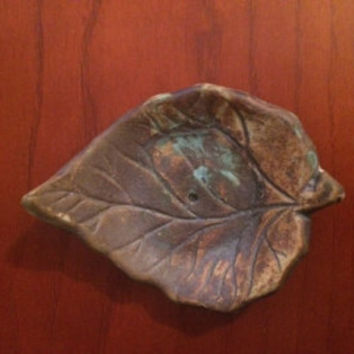 Leaf Shaped Incense Holder