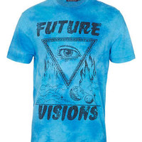 Blue Washed 'Future Visions' T-Shirt - New In