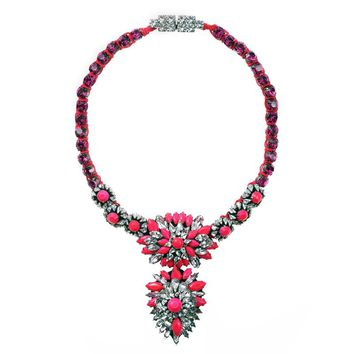 JShine Personality Necklaces & Pendant Statement Necklace Big Flower Choker Necklace for Women Colar Party Jewelry Bijoux