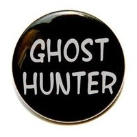 Ghost Hunter  Button Pin Badge 1 1/2 inch by theangryrobot on Etsy