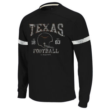 Texas Longhorns Youth Football Vintage Yoked Long Sleeve Crewneck Sweatshirt