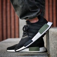 ADIDAS NMD R1 BASE GREEN CORE WHITE/ BLACK BB1357 ALL SIZES BNIB