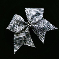 Cheer bow, Black and gray cheer bow, cheerleading bow, dance bow, cheerleader, bow, soft ball bow, dance bow, large hair bow