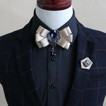 High Quality Mens Collar Bowtie For Wedding Grooms Bow Ties Women Ribbon Polyester Flower Pendant Neck Ties