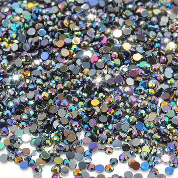 2mm About 2000 pcs Bag Acrylic Galitter Black Micro Shinny Mini Nail Art Decoration DIY Nail Art Nail Beauty Rhinstones