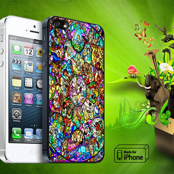 All Characters Disney Stained Glass Samsung Galaxy S3/ S4 case, iPhone 4/4S / 5/ 5s/ 5c case, iPod Touch 4 / 5 case