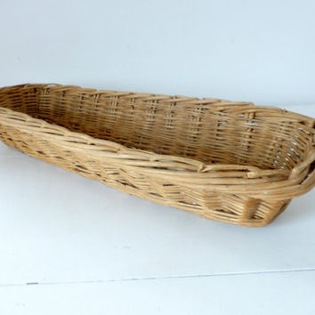 Vintage French, Large Bread  Baguette Basket