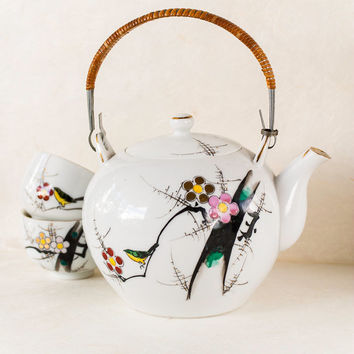 Vintage Japan Teapot Plum Blossom YY Made in Japan Yonemoto Store
