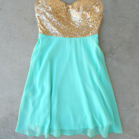 Sparkle & Mint Party Dress