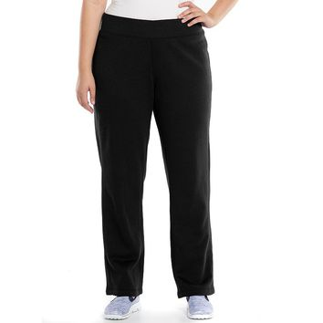 Tek Gear Fleece-Lined Workout Pants - Women's Plus Size, Size: