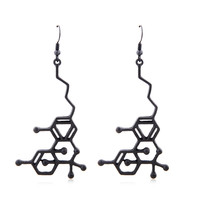 THC Molecule Structure Earrings