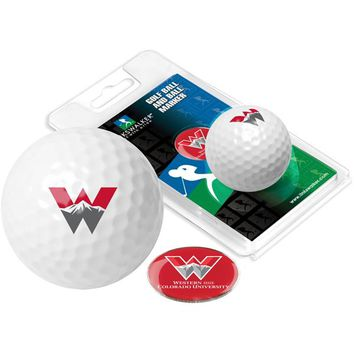 Western State Colorado University Mountaineers Golf Ball One Pack with Marker