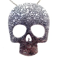 Pin by Brazenelle Jewelry on Sugar Skull Necklace | Pinterest