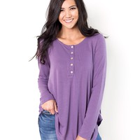 Christine Long Sleeve Henley Tunic