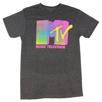 MTV Neon Logo Licensed Graphic T-Shirt