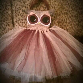 Owl tutu dress costume