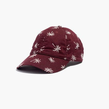 Cotton Baseball Hat in Palm Tree