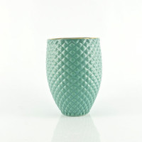 Mint Ceramic Pineapple Tumbler Mug