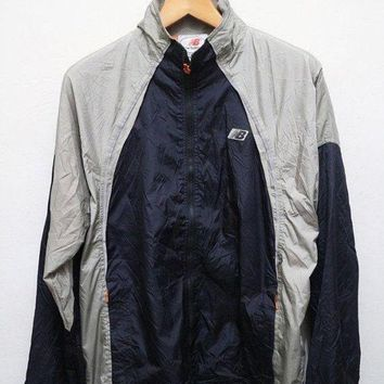 DCCK8NT 15 sales vintage new balance jacket windbreaker silver dark blue m