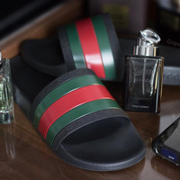 Gucci Men Black Slide' Sandal
