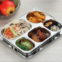 Stainless steel insulation snack plate seal tray bento lunch box insulated Thermal Food Container Tableware dinner plates