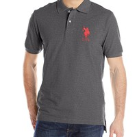 U.S. Polo Assn. Men's Solid Pique Polo Shirt