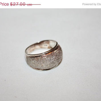 Sterling Silver  Ring Stardust  Engagement  Vintage 1960s Jewelry Wedding Band