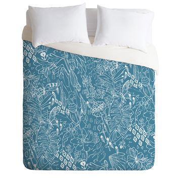 Geronimo Studio Secret Garden Blue Duvet Cover