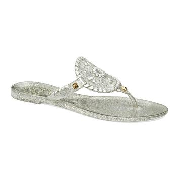 Sparkle Georgica Jelly Sandal in Silver by Jack Rogers - FINAL SALE