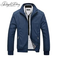 DAVYDAISY High Quality Men Jacket Brand Casual Stand Collar Zipper Solid Social Bomber Jacket Men Dress Coat DCT-065