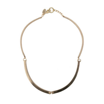Annie Costello Brown - Bronze Single Rib Necklace