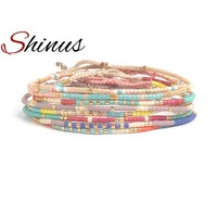 Shinus Miyuki Bracelet Delica Seed Beads Jewelry Bracelets Women Pulseira Handmade Beaded Colorful Friendship Her Best Gifts New