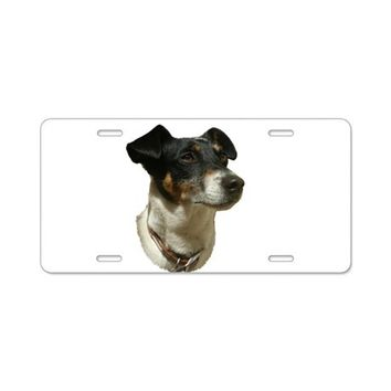 JACK RUSSELL DOG ALUMINUM LICENSE PLATE