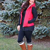 Winter Nights Vest - Red