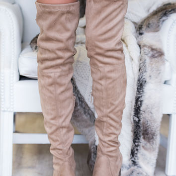 Seattle Skyline Thigh High Boot (Natural)