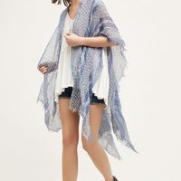 Maroma Kimono Scarf by Anthropologie in Blue Size: One Size Tops