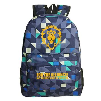 """For The Alliance"" World Of Warcraft Backpacks"