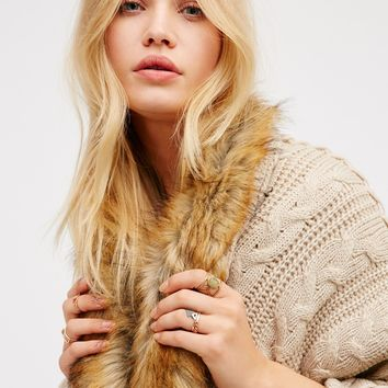 Free People Hot Toddy Cable Knit Kimono