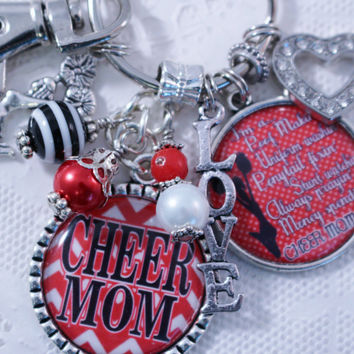 PERSONALIZED CHEER MOM, Cheer mom Gift, Gift for Cheer mom, Cheerleader Gift, Cheerleading, Cheerleader Jewelry, Cheerleading Jewelry