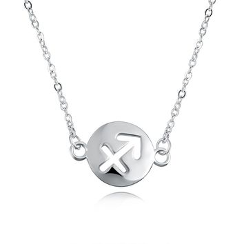 Zodiac Necklace Pendant Hollow Out Glass Dome Pendant for Womens Girls