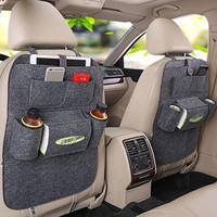 Gray Car Back Seat Organizer Bag