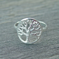 Tree of life ring sterling silver SALE