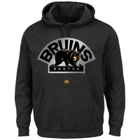 Majestic Boston Bruins Game Reflex Pullover Hoodie - Black