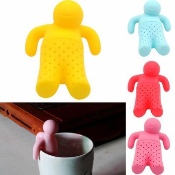 10 Color Tea Strainer Interesting Life Partner Cute Mr Teapot Silicone Tea Infuser Filter Teapot for Tea & Coffee Filter Drinkwa