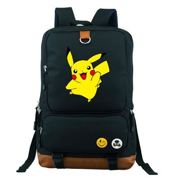 Go Kids School Book Children Backpacks Girl Bag Teenages Cartoon Nylon Shoulder Bag Boy Travel Bag Students School BagKawaii Pokemon go  AT_89_9