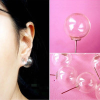 New Arrival Gift Shiny Jewelry Stylish Glass Transparent Strong Character Soft Earring Ring [6573108743]