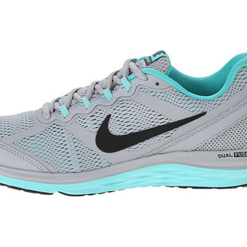 Nike Dual Fusion Run 3 Wolf Grey/Light Aqua/Light Retro/Black - Zappos.com Free Shipping BOTH Ways