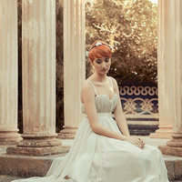 Bridal elegant sweet dress in chiffon bustier
